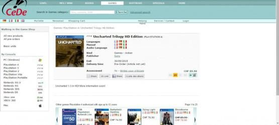 零售商上架《神秘海域:合集》 或9月底发售
