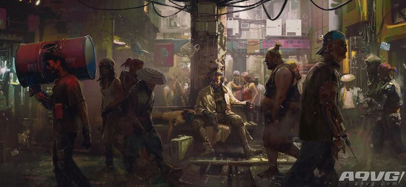 《赛博朋克2077》全新截图和设定图发表 枪战一触即发