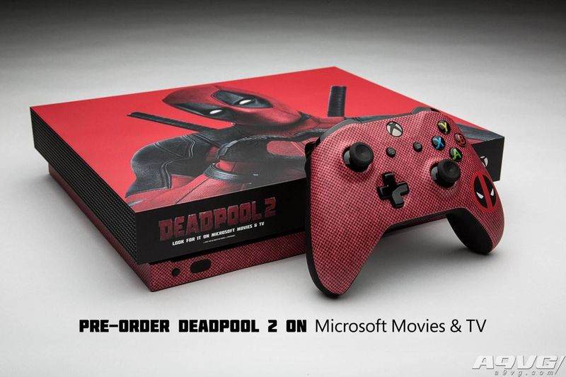 微软定制《死侍2》特别版Xbox One X 仅能通过抽奖获得