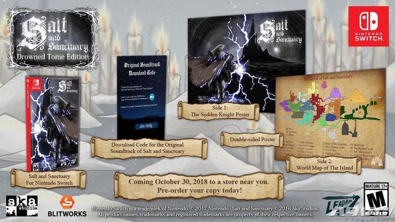 Switch《盐与避难所》实体版10月30日发售 包含地图和海报
